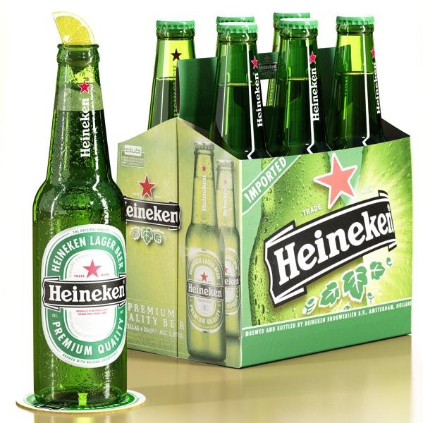 Heineken pivə toplama 3d modeli 3ds max fbx obj 141870