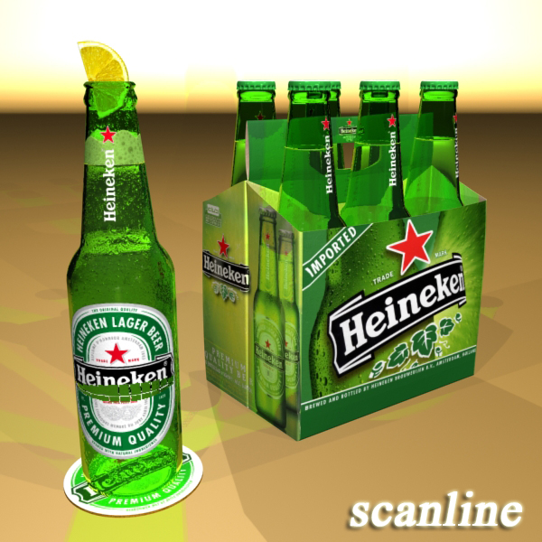 Heineken pivə toplama 3d modeli 3ds max fbx obj 141877