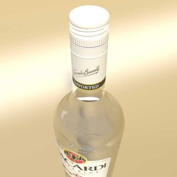 high detailed bacardi bottle, mojito and rum shot 3d model 3ds max fbx obj 138309
