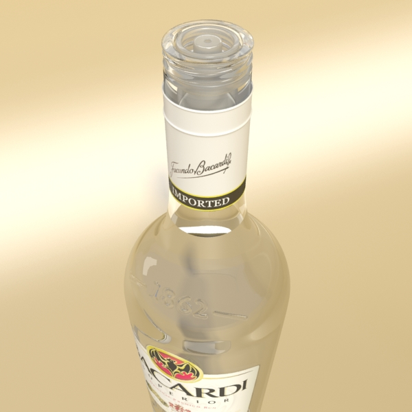 high detailed bacardi bottle, mojito and rum shot 3d model 3ds max fbx obj 138310