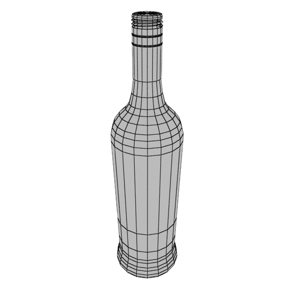 high detailed bacardi bottle, mojito and rum shot 3d model 3ds max fbx obj 138316