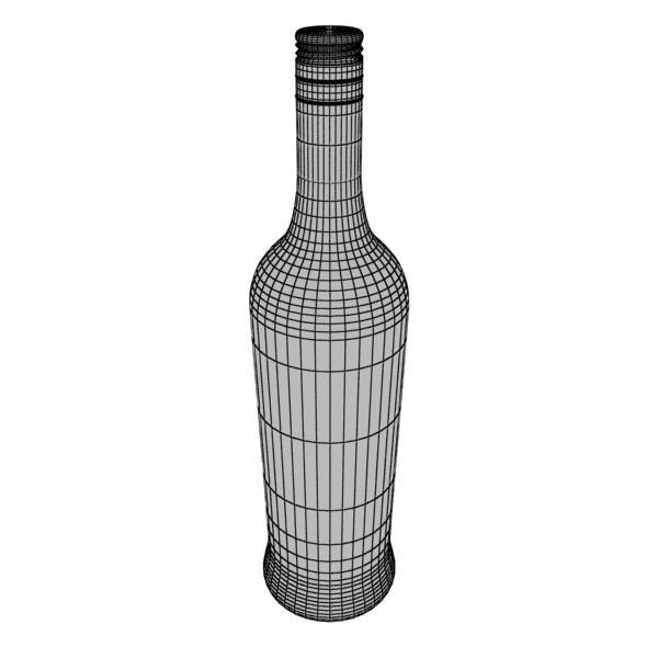 high detailed bacardi bottle, mojito and rum shot 3d model 3ds max fbx obj 138317
