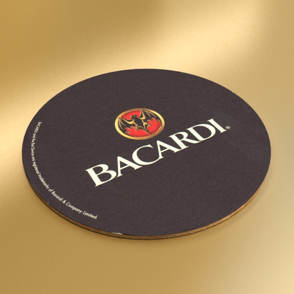 high detailed bacardi bottle, mojito and rum shot 3d model 3ds max fbx obj 138331