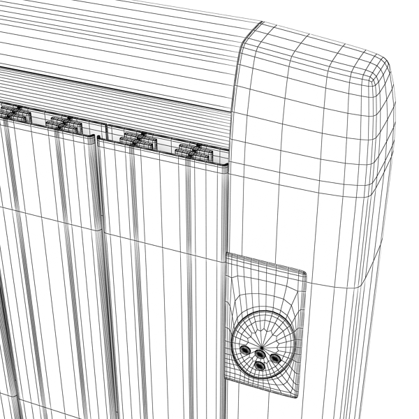 high detailed radiator 5 3d model 3ds max fbx obj 148550