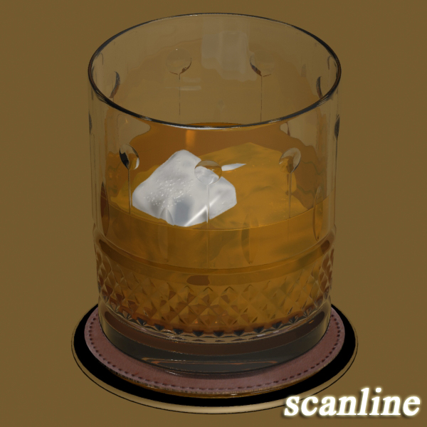 high detailed whisky cut glass and chivas coaster 3d model 3ds max fbx obj 139581