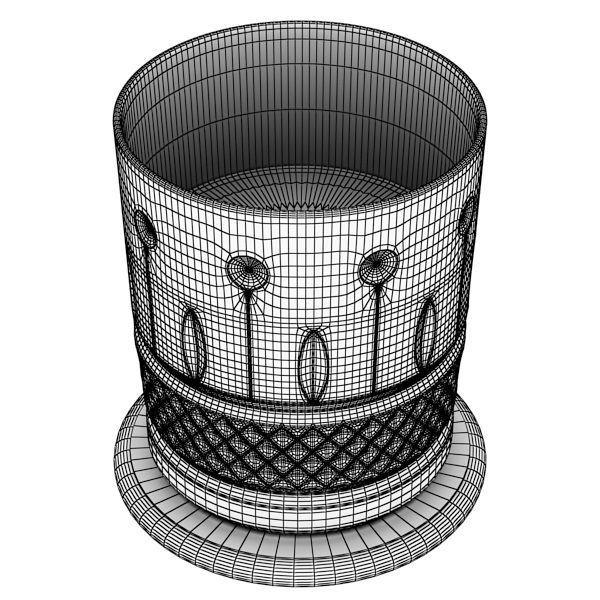 high detailed whisky cut glass and chivas coaster 3d model 3ds max fbx obj 139583