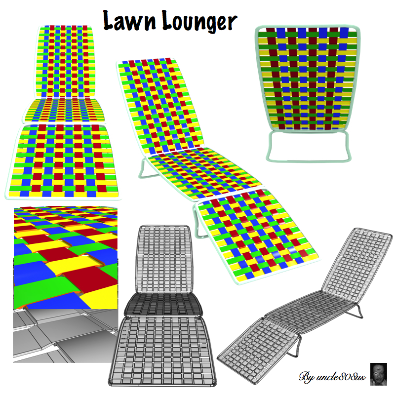 lawn lounger 3d model obj 160583