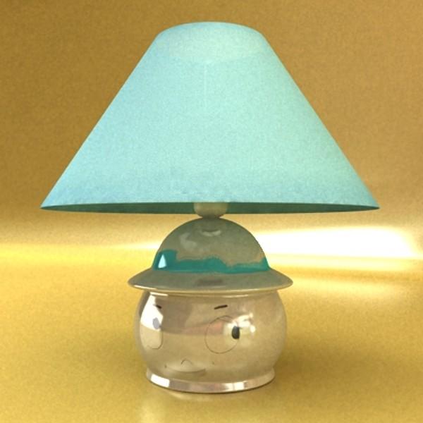 little table lamp 3d model 129731