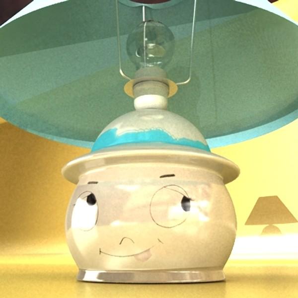 little table lamp 3d model 129733