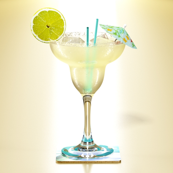 margarita cocktail – high detailed 3d model 3ds max fbx obj 140275