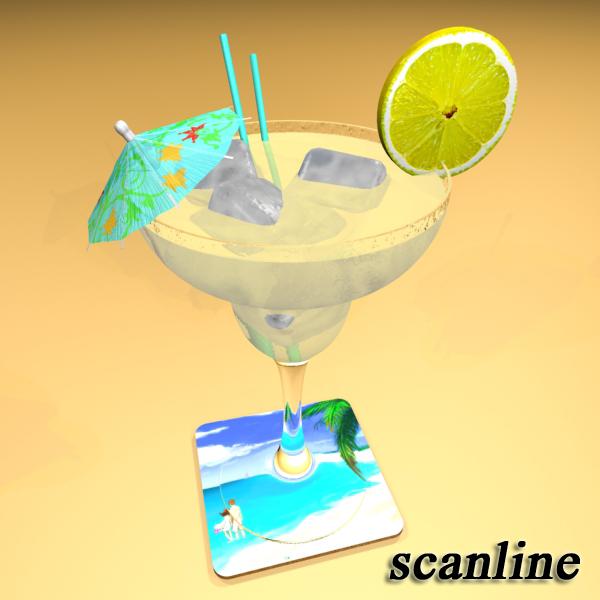 margarita cocktail – high detailed 3d model 3ds max fbx obj 140283