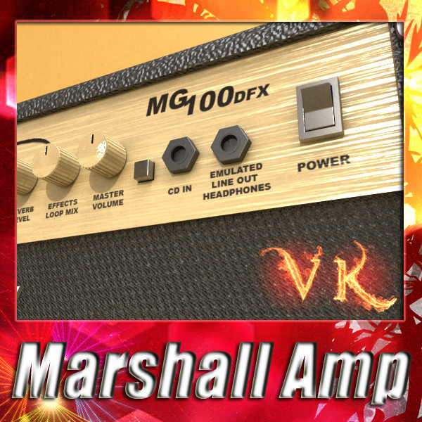 marshall amplifier 100 w high detail 3d model 3ds max fbx obj 131050