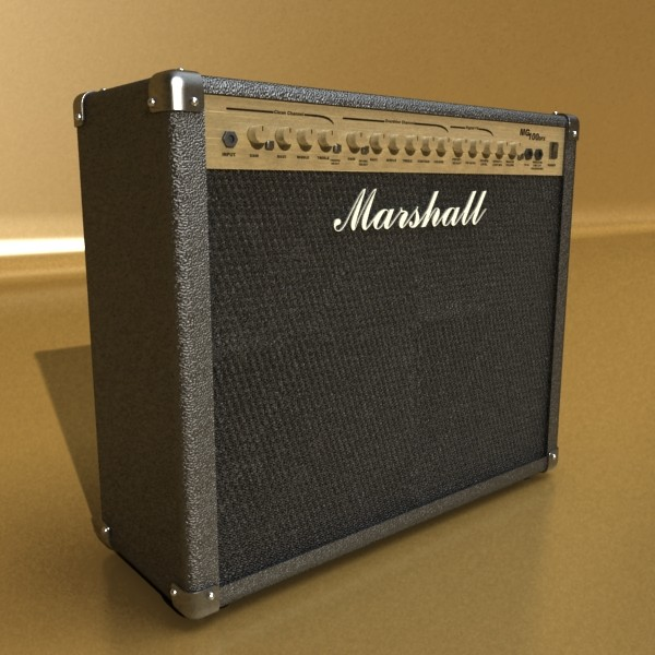 marshall amplifier 100 w high detail 3d model 3ds max fbx obj 131051