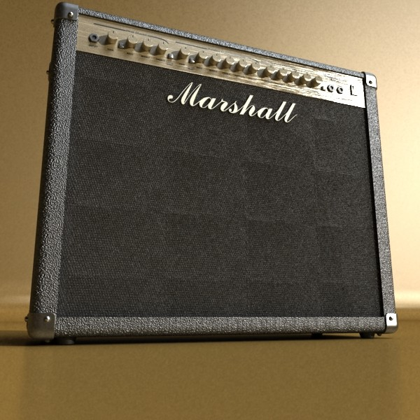 marshall amplifier 100 w high detail 3d model 3ds max fbx obj 131054