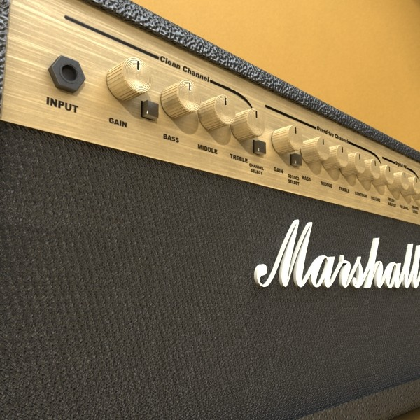 marshall amplifier 100 w high detail 3d model 3ds max fbx obj 131056