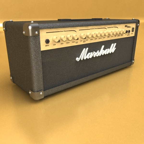 marshall amplifier mg series high detail 3d model 3ds max fbx obj 131064