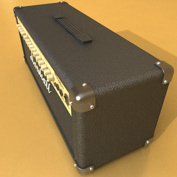 marshall amplifier mg series high detail 3d model 3ds max fbx obj 131068