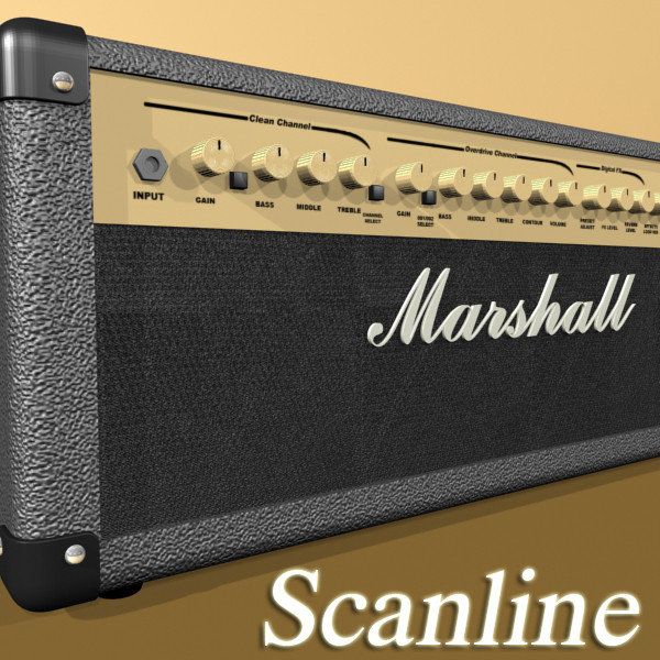 marshall amplifier mg series high detail 3d model 3ds max fbx obj 131072