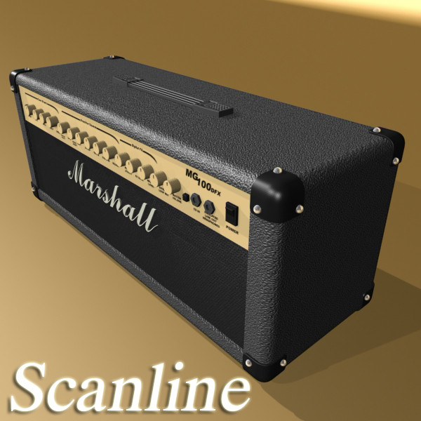 marshall amplifier mg series high detail 3d model 3ds max fbx obj 131073