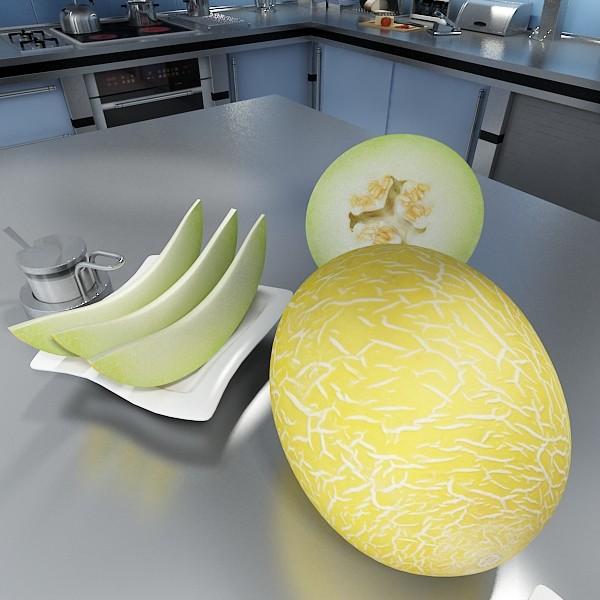 melon high res textures 3d model 3ds max fbx obj 133125