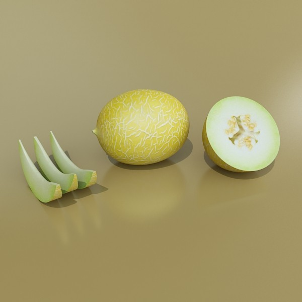 melon high res textures 3d model 3ds max fbx obj 133130