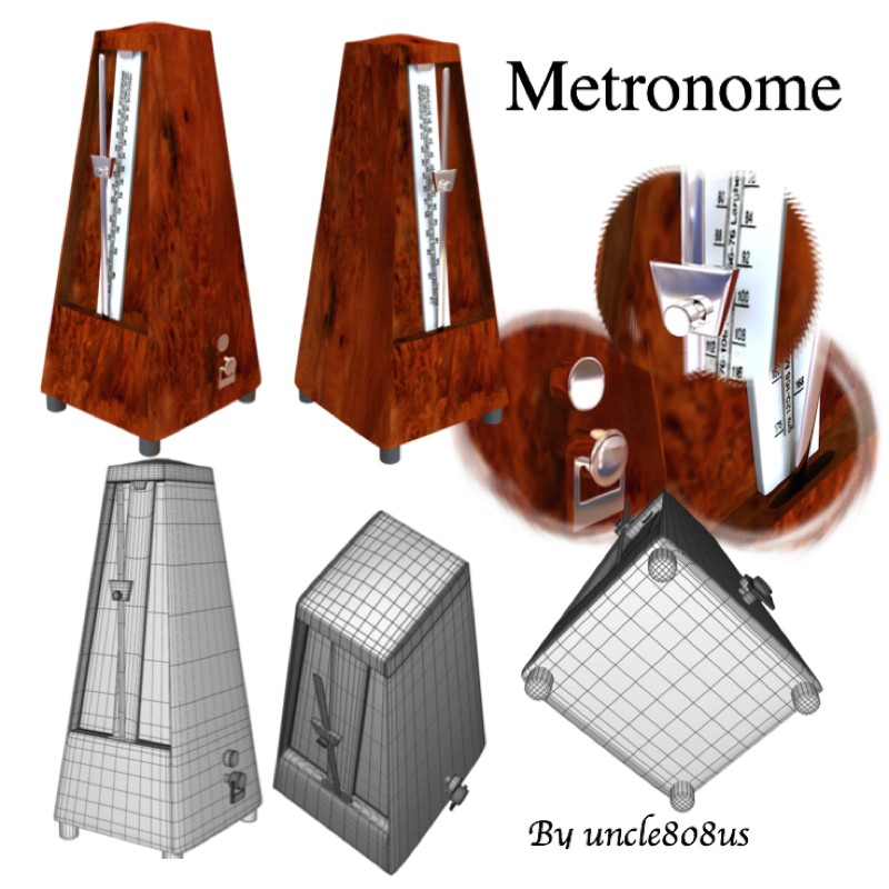 metronome 3d model obj 153992