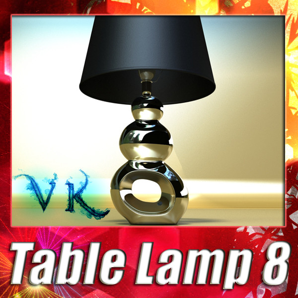 modern contempo table lamp 08 3d model 3ds max fbx obj 135453