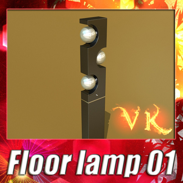 lamp llawr modern 01 3d model 3ds max fbx obj 134898