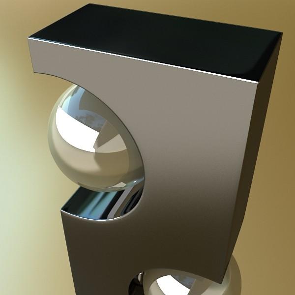 modern floor lamp 01 3d model 3ds max fbx obj 134904