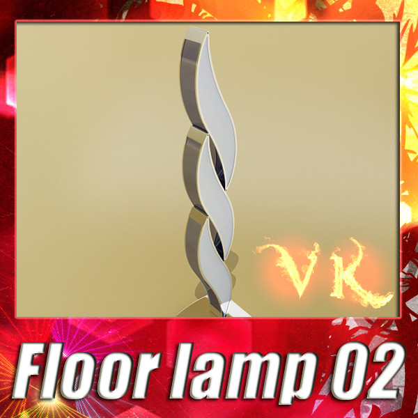 modern floor lamp 02 3d model 3ds max fbx obj 134910