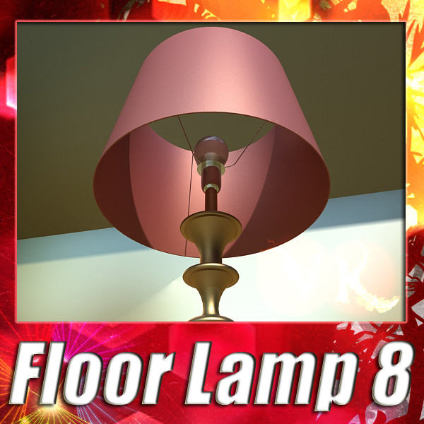 modern floor lamp 08 lunette 3d model 3ds max fbx obj 135246