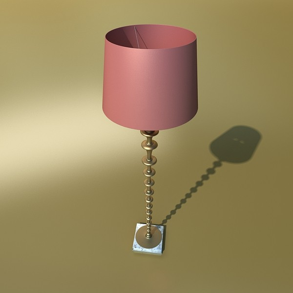 modern floor lamp 08 lunette 3d model 3ds max fbx obj 135247