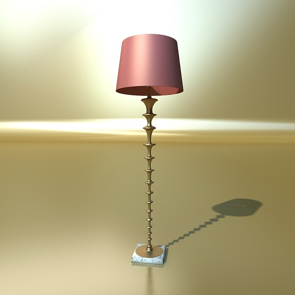 modern floor lamp 08 lunette 3d model 3ds max fbx obj 135248