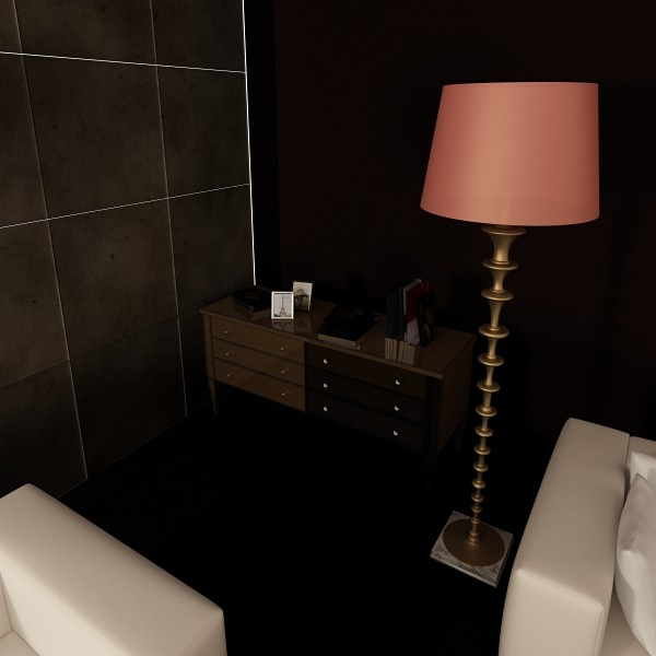 modern floor lamp 08 lunette 3d model 3ds max fbx obj 135252