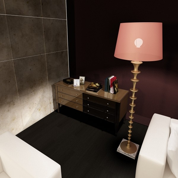 modern floor lamp 08 lunette 3d model 3ds max fbx obj 135253