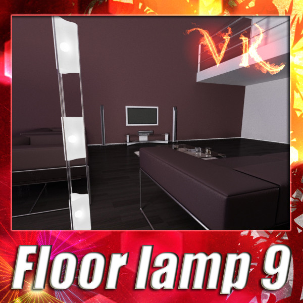 modern floor lamp 09 totem 3d model 3ds max fbx obj 135258