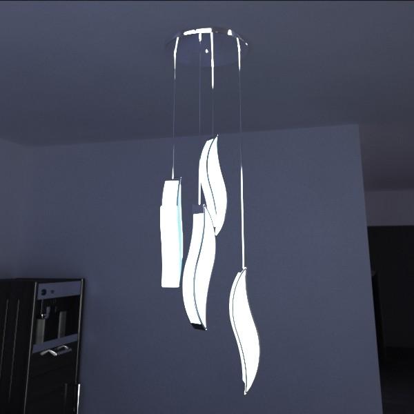 modern pendant lamp 01 3d model 3ds max fbx obj 134929