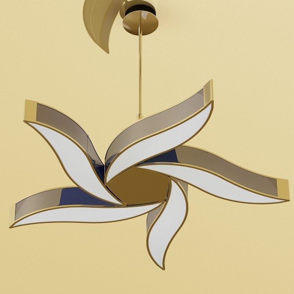modern pendant lamp 02 3d model 3ds max fbx obj 134936