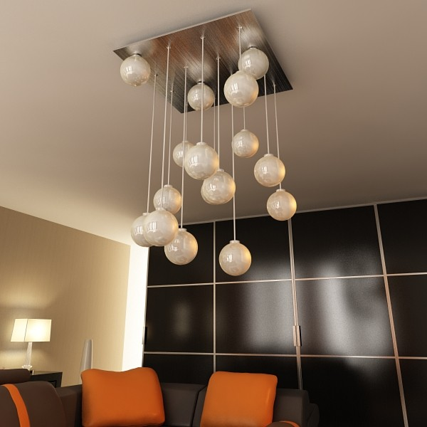 modern pendant lamp 04 3d model 3ds max fbx obj 135005