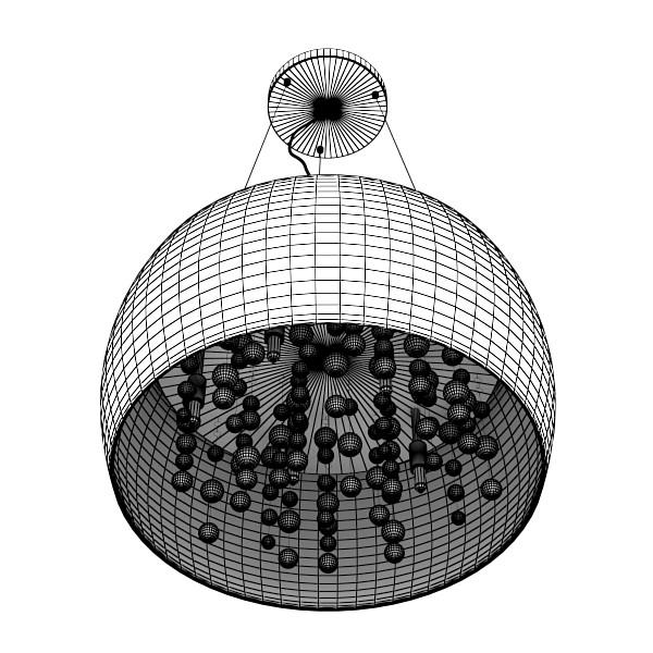 modern pendant lamp 07 3d model 3ds max fbx obj 135035