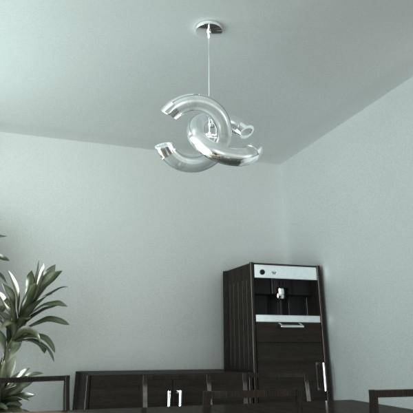 modern pendant lamp 08 3d model 3ds max fbx obj 135041