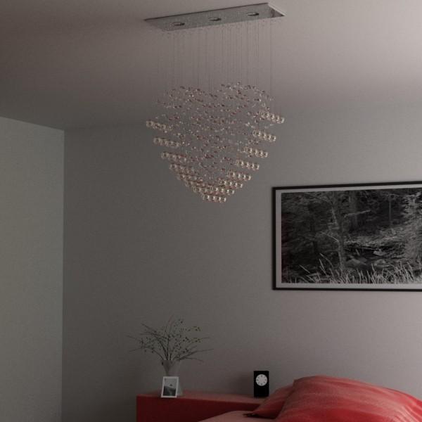 modern pendant lamp 10 3d model 3ds max fbx obj 135095