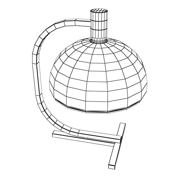 modern table lamp 01 as1c 3d model 3ds max fbx obj 135384