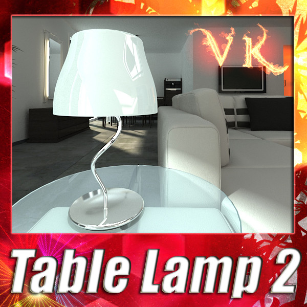 modern table lamp 02 circle t 28 3d model 3ds max fbx obj 135386