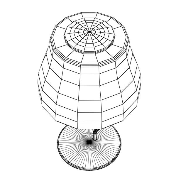 modern table lamp 02 circle t 28 3d model 3ds max fbx obj 135396