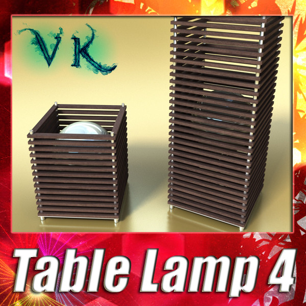 modern table lamp 04 koshi 3d model 3ds max fbx obj 135414