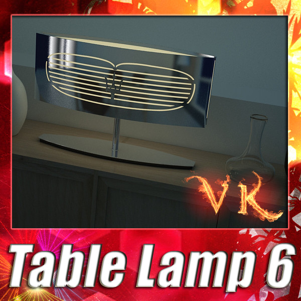 modern table lamp 06 maserati 3d model 3ds max fbx obj 135444
