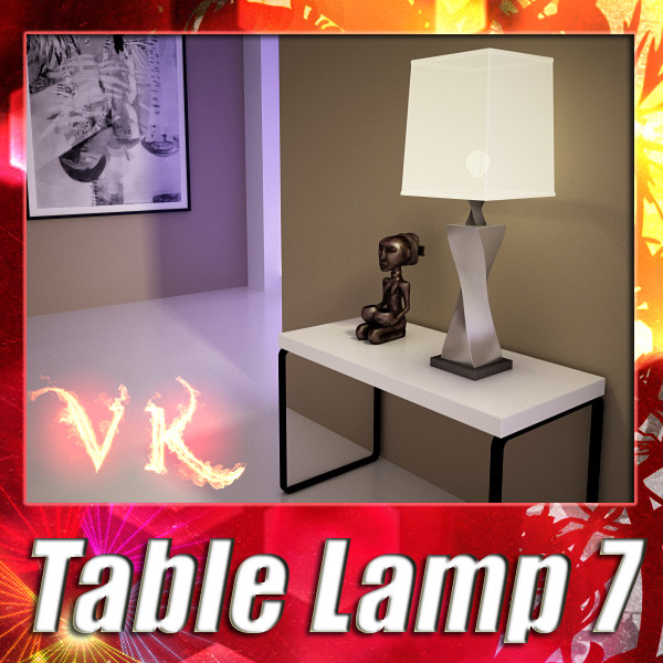 modern table lamp 07 silver 3d model 3ds max fbx obj 135435