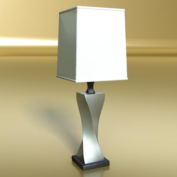 modern table lamp 07 silver 3d model 3ds max fbx obj 135436
