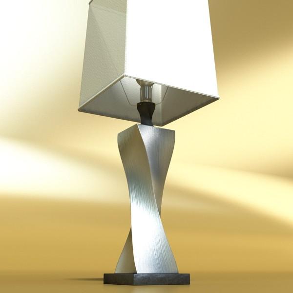 modern table lamp 07 silver 3d model 3ds max fbx obj 135437
